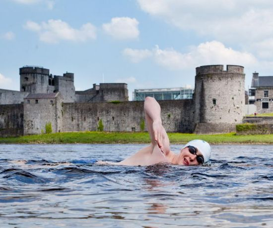 Taking to the water as part of the annual Thomond Swim.