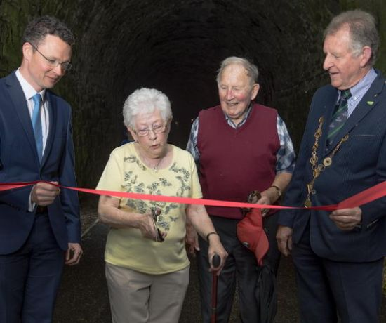 Barnagh Ribbon Cutting, Great Southern Greenway Limerick (Pic Marie Keating)