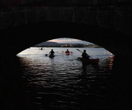 Night Kayaking in Limerick City with Nevsail
