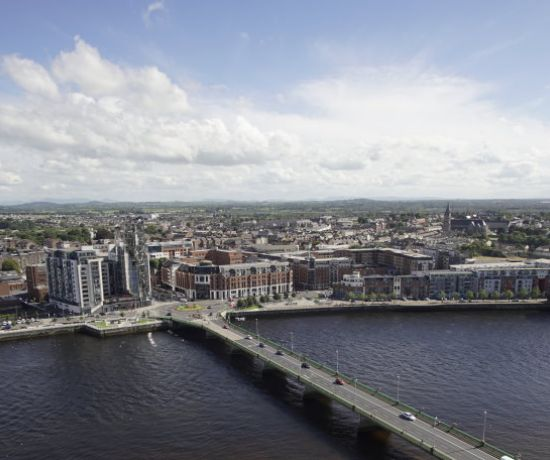 Aerial view of Limerick