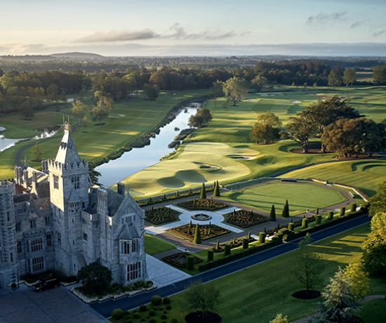 Aeriel view - Adare Manor Manor House and Gardens (Pic: Production 54)