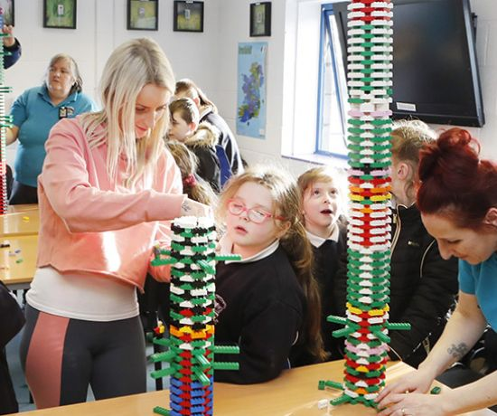 Lego building at the Southill Afterschool Hub (Pic Liam Burke Press 22)