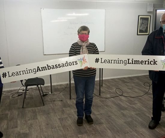 Learning Ambassador, Patricia Sheehan, and Breda Butterfield & Tom Kearns attending virtual Launch.
