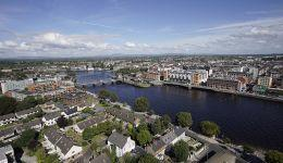 Limerick City Riverside Aerial View