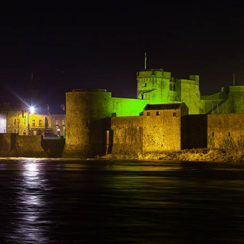 Limerick lights up for Global Greening_King John's Castle (Pic Piquant Media)